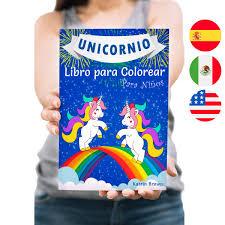Unicornio Libro Para Colorear Para Niños De Katrin Brown