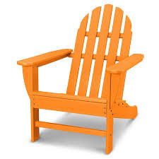 Outdoor POLYWOOD® Classic Adirondack Chair Tangerine ... Trex Outdoor Fniture Hd Classic White Patio Adirondack Welcome To Dfohecom Pawleys Island Hammocks Maxim Childs Chair Kids Wood For Backyard Lawn Deck Cod And Ftstool Set By Chair Wikipedia Around The Firepit Hayneedle Has These Row Of Colorful Recycled Plastic Resin Color Chairs Colorful Chairs Looking Out At View Stock Photo Cape 18 Free Plans You Can Diy Today