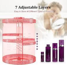 klar awenia 360 drehbar make up aufbewahrung kosmetik