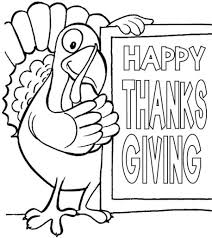 Happy Thanksgiving Coloring Pages For Kids Intended Day Printable