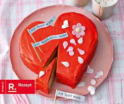 mandel herz torte für den valentinstag