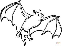 Free Download Coloring Pages Of Bats With Cartoon Vampire Bat Page