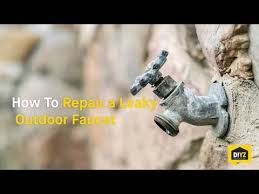 how to repair a leaky outdoor faucet youtube