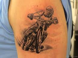 Bike Tattoo On Shoulder
