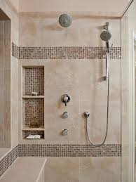 large charcoal black pebble tile border shower accent https www