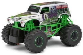 100 Monster Jam Rc Truck New Bright 24301C Grave Digger Chrome RC 124