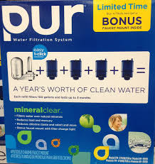 100 pur advanced faucet water filter chrome the best water