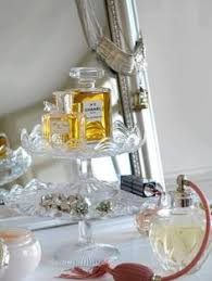 Vintage And Glass Cake Plates Beautiful Way To Display Perfume Pretties On Your Dresser