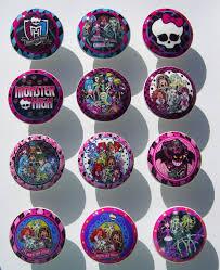Pink Chevron Dresser Knobs by 1 One Monster High Kids Boys Girls Dresser Drawer Knob On