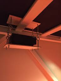 Ceiling Mount For Projector Ebay by Diy Adjustable Projector Mount For Underneath Loft Bed Super Easy