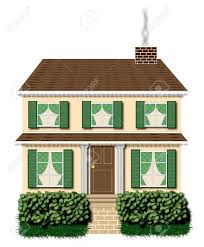 100 Picture Of Two Story House Green And Brown Two Story House Illustration On White Background