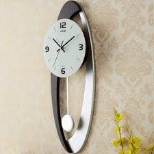 Decorative Large Wall Clocks Extra Pendulum Clock With Silver
