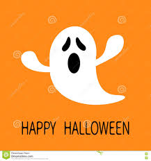 Free Halloween Ecards Funny by Funny Flying Ghost Screaming Face Happy Halloween Greeting Card