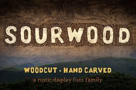 Sourwood Woodcut Font Family