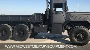 100 5 Ton Army Truck Murdered Out BMY M923A2 Military 6X6 ROPS YouTube
