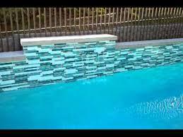 swimming pool glass tile design astonish waterline 1 nightvale co