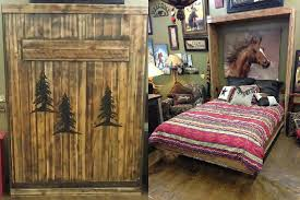 Custom Rustic Barnwood Wall Bed Collection Queen W O Carvings 2749 2899