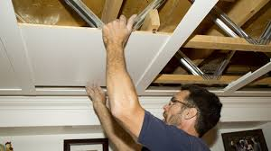 plafond a caisson suspendu un plafond suspendu prestigieux rénovation bricolage
