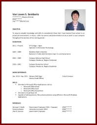 OJT Sample Resume Objectives For Students