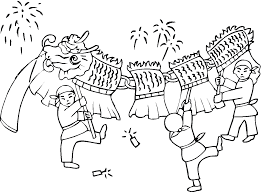 Chinese Coloring Pages Free Printable Dragon For Kids Drawing