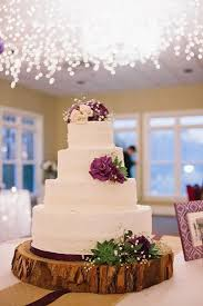 Purple Rustic Wedding Cake