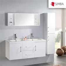meuble salle de bain 120 cm blanc colonne vasque robinetterie w
