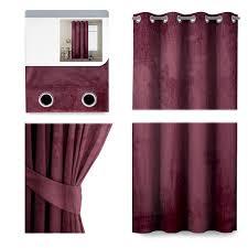 ösenschal samt blickdicht und abdunkelnd 140cm x 245cm ösenschals schals gardine vorhang bordeaux
