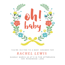 Baby Shower Logo by Oh Baby Free Baby Shower Invitation Template Greetings Island