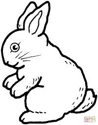 Rabbit Coloring Page Free Printable Pages