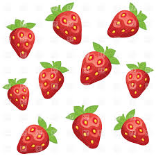 Simplistic pattern with strawberry Royalty Free Vector Clip Art