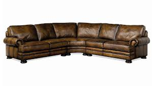 bernhardt foster leather sectional sofa with nailhead trim john