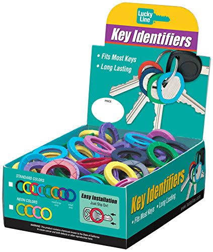 Lucky Line Key Identifier - Large, 150 Pack