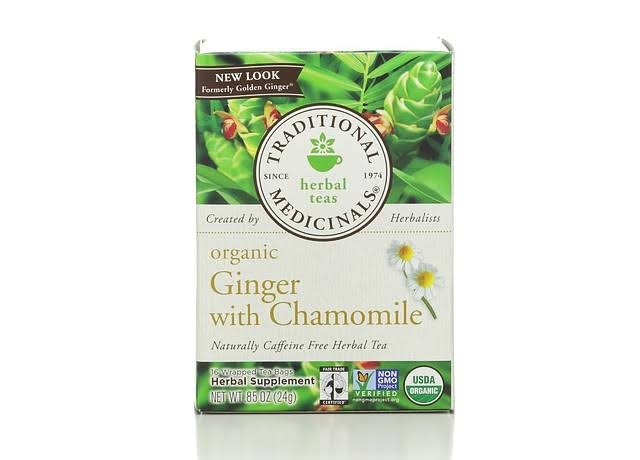 Traditional Medicinals Organic Ginger with Chamomile Tea - 16 tea bags