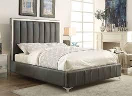Modloft Jane Bed by Cm7055 Mira Bed In Warm Grey Leatherette