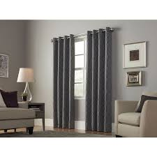 Light Filtering Privacy Curtains by Shop Allen Roth Keldgate 84 In Graphite Polyester Grommet Light