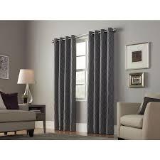 shop allen roth keldgate 84 in graphite polyester grommet light