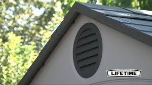 Lifetime 10x8 Plastic Shed by 60001 10x8 Shed Dual Entry Hd Youtube