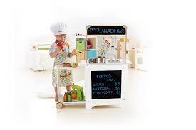 amazon com hape cook n serve wooden kitchen play set toys games
