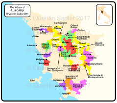 Wine Map Of Tuscany Click For A Larger View