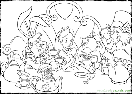 Alice In Wonderland Coloring Pages Party