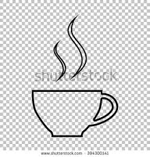 Cup Of Coffee Line Icon On Transparent Background