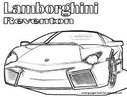 Coloring Pages Cars Free Lamborghini Pictures Car