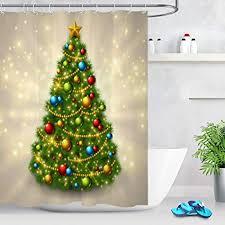 lb weihnachten duschvorhang 180x180cm funkelnder weihnachtsbaum bad vorhänge polyester lang wasserdicht anti schimmel badezimmer deko