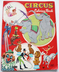 Vintage 1958 Whitman Circus Coloring Book 32 Pages 1222 One Hat Colored