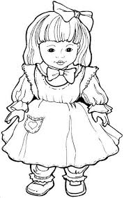 Doll Coloring Page Free Download