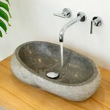 wohnfreuden flussstein waschbecken ca 50 naturstein waschschale waschtisch bad