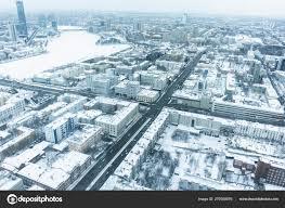 100 Birdview Ekaterinburg Winter Snow Stock Photo Supertrooper