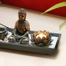 Buddha Smoke Fountain Buddha Incense Burner Meditating Monk