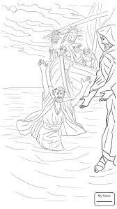 Christianity Bible Peter Walks On The Water Coloring Pages