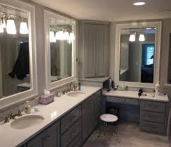 Bathroom Vanity Tower Cabinet by Vanity Cabinet Gallery Kc Wood